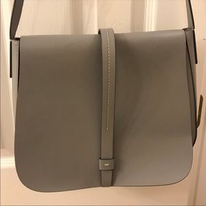 GAP • FAUX LEATHER • GREY • PURSE